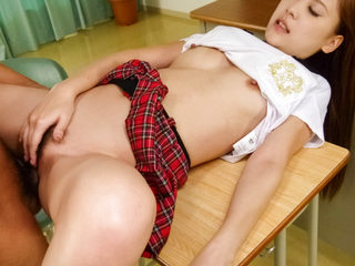 Wonderful schoolgirl Yura Kasumi has sweet time with her..