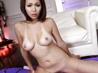 Mai Kuroki sucks a cock while her sweet trimmed pussy is..