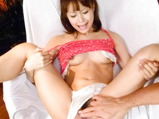 Maika's pretty furry pussy is toyed until she is shivering..
